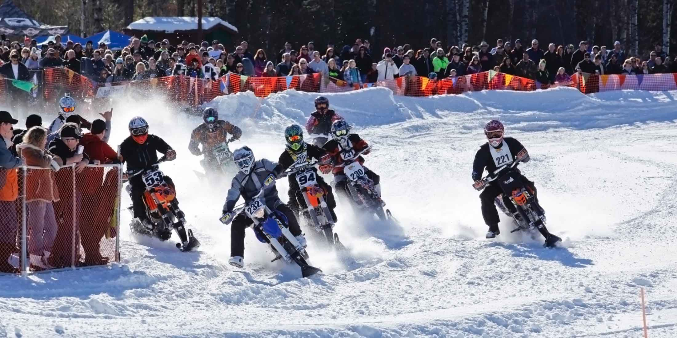 AMA Championship Snow Bike Series. Photo, Ron Dillon