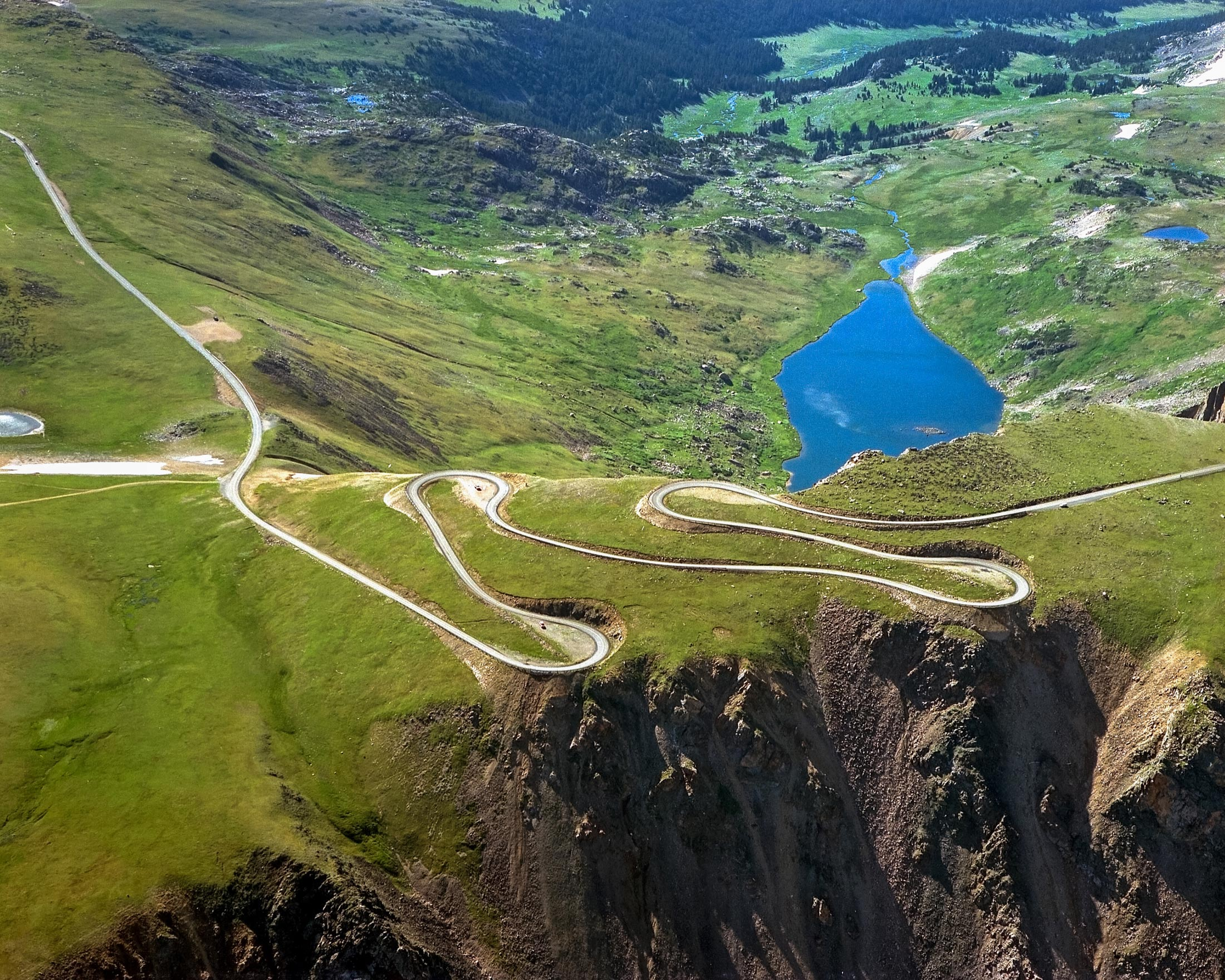 Beartooth Highway in the spring in Yellowstone Country Montana.