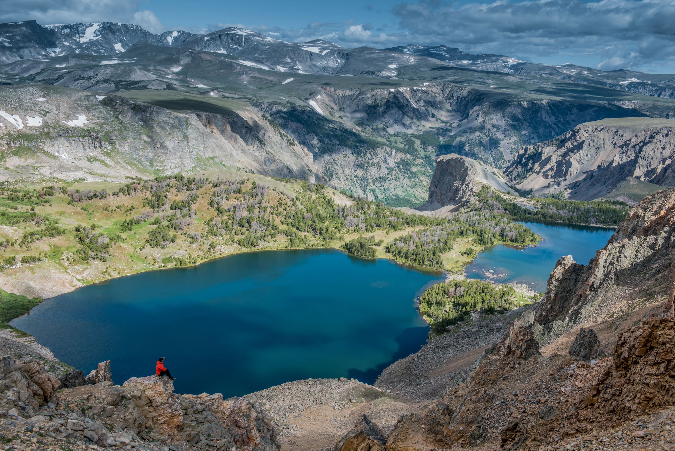 Lake on Beartooth Highway in Yellowstone Country Montana.