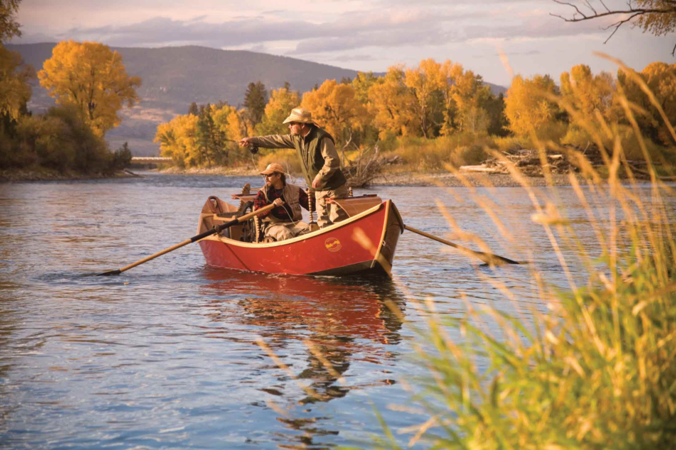Fishing in the Fall in Yellowstone Country Montana