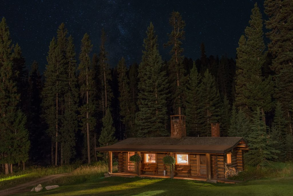 LMR_Cabin at night