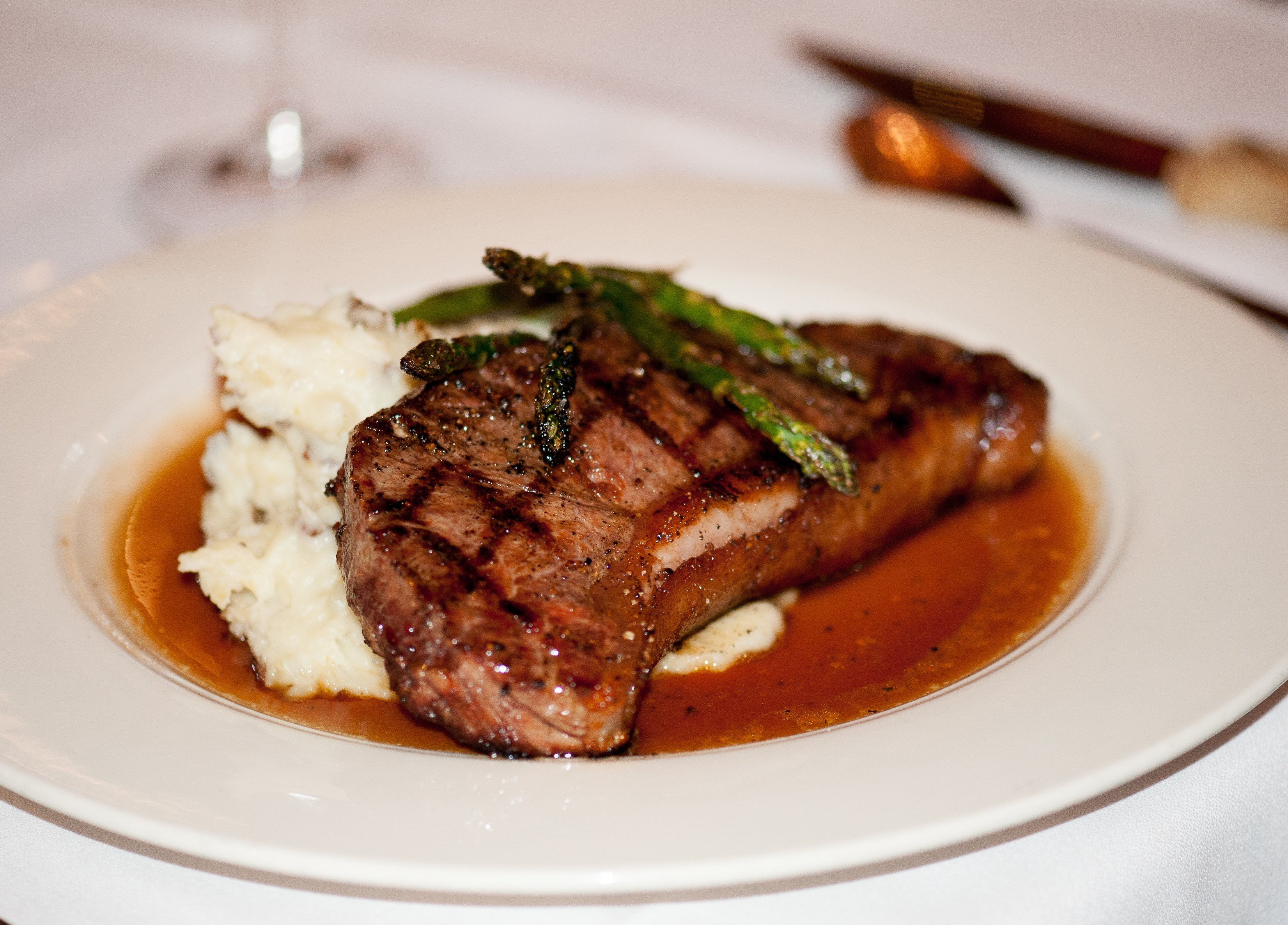 Local grass-fed beef, pork and lamb can be found at farmers markets in Yellowstone Country. Pictured is a steak dinner at Lone Mountain Ranch in Big Sky, Montana.