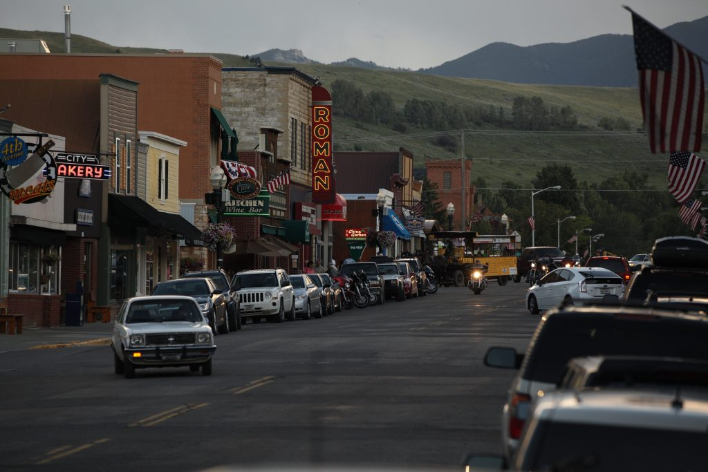 Red Lodge, Montana downtown in Yellowstone Country Montana