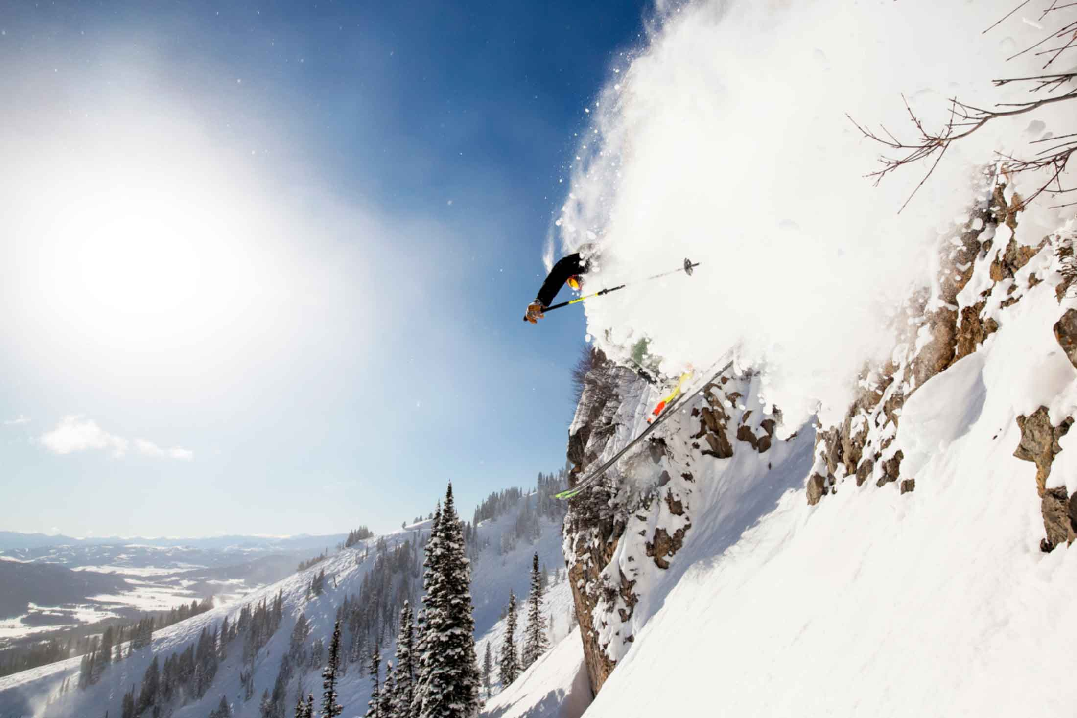 Skier, Bridger Bowl, Colton Stiffler Photography