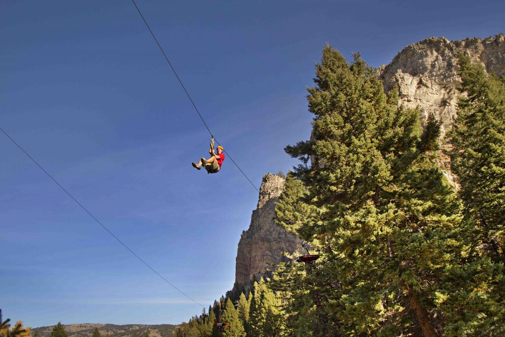 Zip lining in Yellowstone Country near Yellowstone National Park
