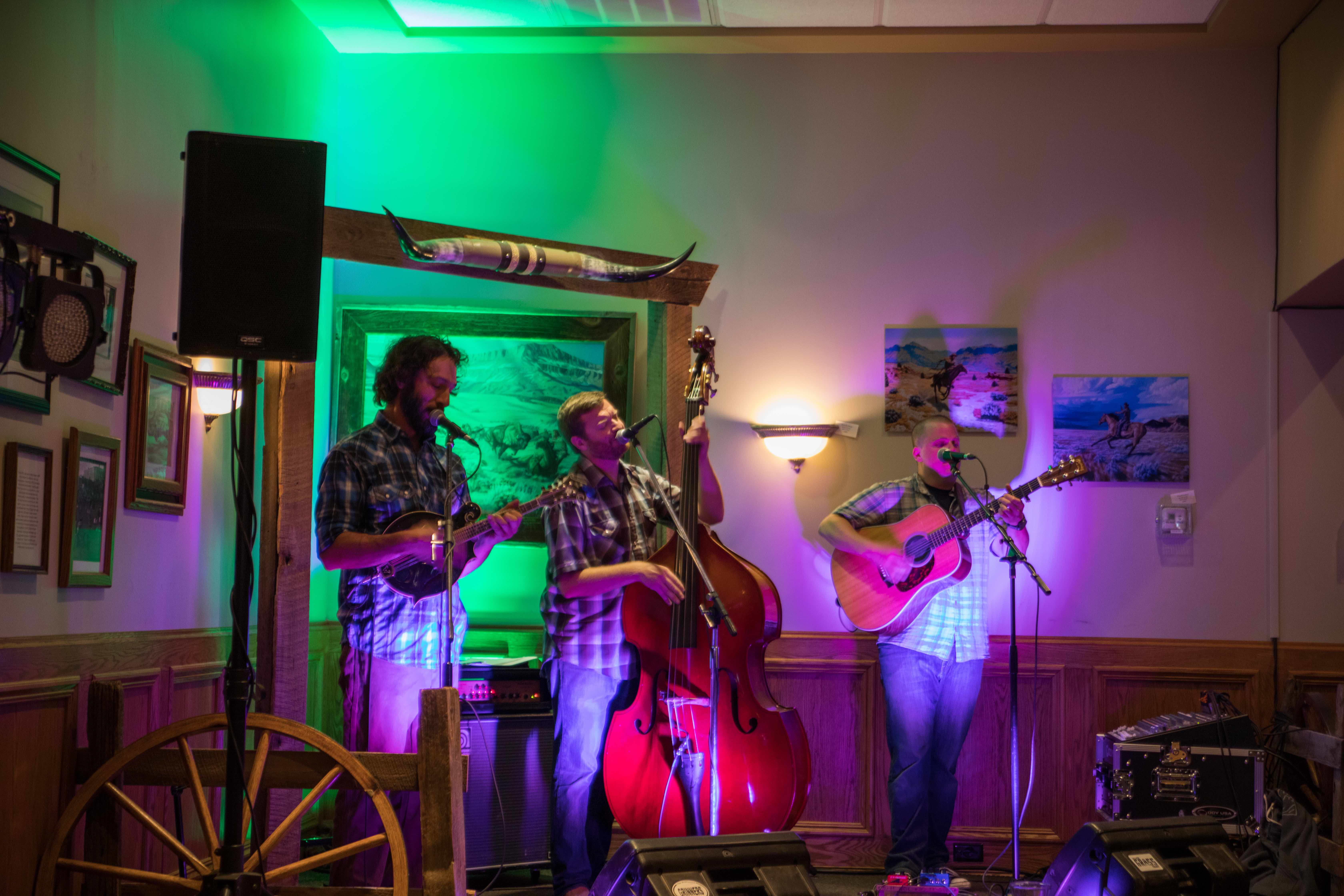 A band takes the stage at one of Yellowstone Country Montana's iconic taverns
